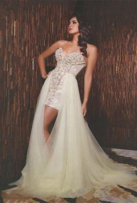 Gorgeous Sweetheart Sleeveless Tulle Prom Dress UK With Beadings_1