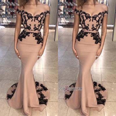 Off-the-shoulder mermaid lace prom Dress UK, long evening Dress UK BA7921_2
