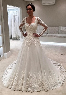 Long Sleeve Wedding Dress | Lace Bridal Gowns On Sale_1