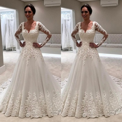 Long Sleeve Wedding Dress | Lace Bridal Gowns On Sale_3