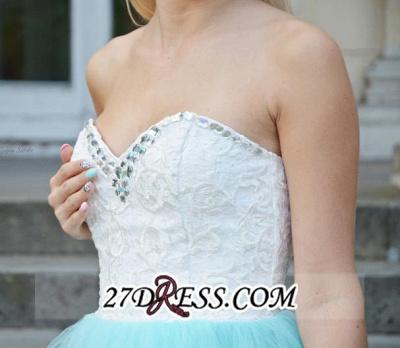 Lace Sleeveless Mini Newest Crystal Sweetheart Homecoming Dress UK_4