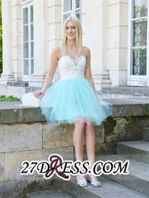 Lace Sleeveless Mini Newest Crystal Sweetheart Homecoming Dress UK_5