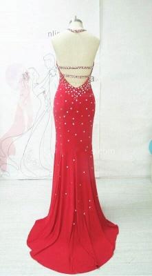Elegant Evening Long Open Back Prom Dresses Rhinestone New Dress_2