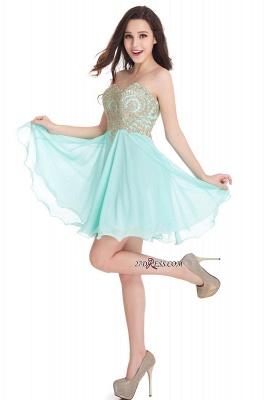 Sexy Short Mini Sweetheart Appliques Homecoming Dress UKes UK_9