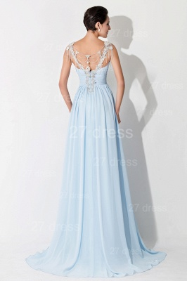 Gorgeous A-line Chiffon Evening Dress UK Beadings Crystals_4