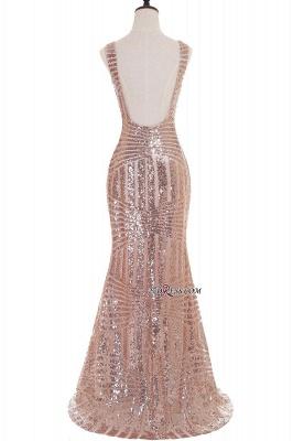 Sleeveless Newest Long Jewel Sequin Mermaid Prom Dress UK_5