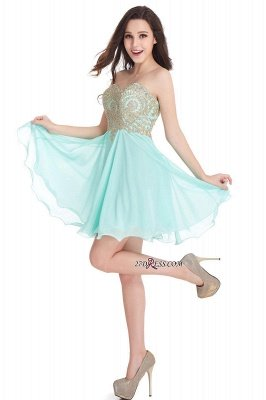 Sexy Short Mini Sweetheart Appliques Homecoming Dress UKes UK_11