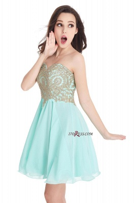 Sexy Short Mini Sweetheart Appliques Homecoming Dress UKes UK_13