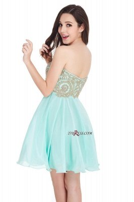 Sexy Short Mini Sweetheart Appliques Homecoming Dress UKes UK_12