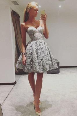 Sexy Sweetheart Homecoming Dress UKes UK | A-Line Sleeveless Cocktail Dress UKes UK_1