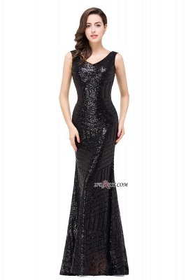 Sleeveless Newest Long Jewel Sequin Mermaid Prom Dress UK_6