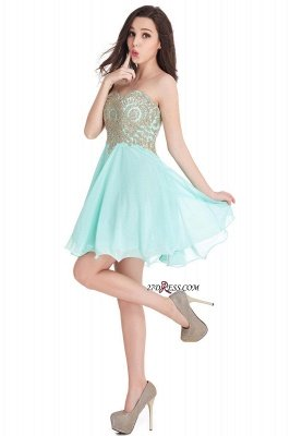 Sexy Short Mini Sweetheart Appliques Homecoming Dress UKes UK_10