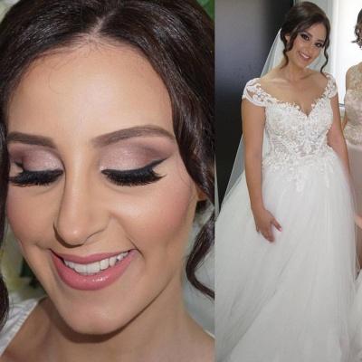 Delicate Lace Appliques Princess Wedding Dress Long Sleeve_4