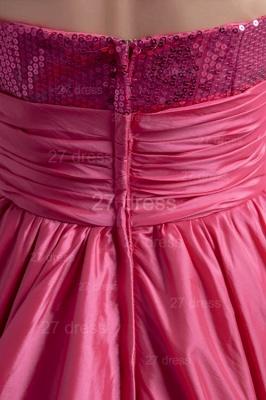 Modern Hi-Lo Sequins Strapless Evening Dress UK Sweep Train_3