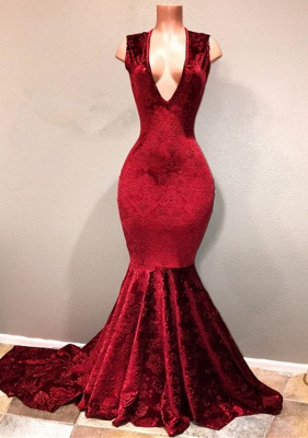 Lace prom Dress UK, V-Neck long evening Dress UK_4