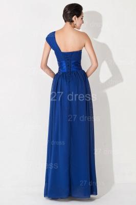 Newest One Shoulder Chiffon Evening Dress UK Royal Blue_5