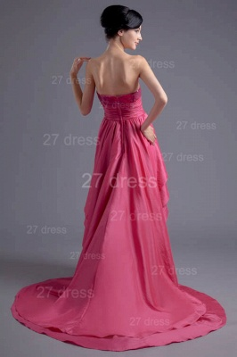 Modern Hi-Lo Sequins Strapless Evening Dress UK Sweep Train_4
