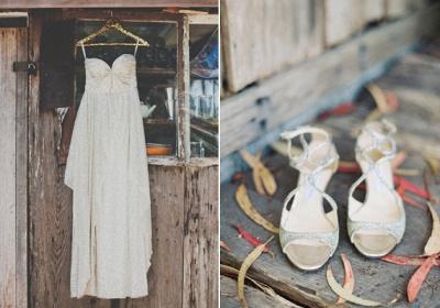 Elegant Spaghetti Strap Sleeveless Wedding Dress Floor-length Sequins_3