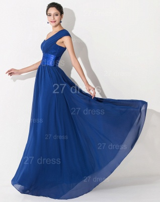 Newest One Shoulder Chiffon Evening Dress UK Royal Blue_4