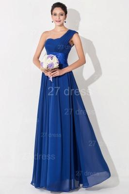 Newest One Shoulder Chiffon Evening Dress UK Royal Blue_1