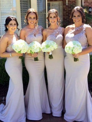 Sexy One Shoulder Lace Bridesmaid Dress UK Long Wedding Reception Dress UK_1