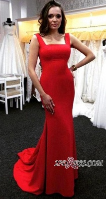 Ruby Mermaid Long Zipper Sleeveless Elegant Evening Dress UKes UK_2