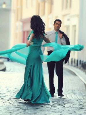 Modern Short Sleeve Mermaid Prom Dress UK Crystals Floor-length_2