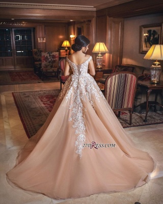 Off-the-shoulder Lace Evening Dress | Princess Wedding Dress With Appliques_3