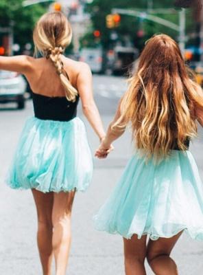 Lovely Halter Short Homecoming Dress UK   Tulle Party Dress UK_3