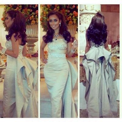 Gorgeous Sleeveless Mermaid Prom Dress UK With Ruffles Beadings_2