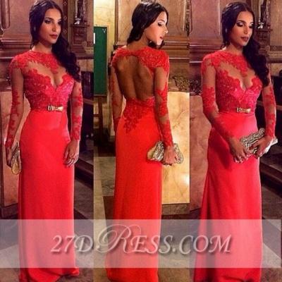Modest Long Sleeve Appliques Prom Dress UKes UK Jewel Floor Length Evening Gowns BK0_2