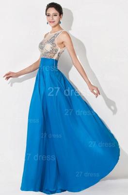 Modern Illusion A-line Evening Dress UK Beadings Sequins_3