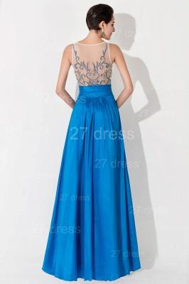 Modern Illusion A-line Evening Dress UK Beadings Sequins_4