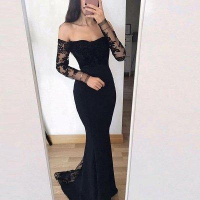 Chic Long Sleeve 2019 Evening Dress UK | Mermaid Lace Formal Dress UK_2