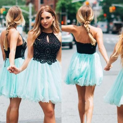 Lovely Halter Short Homecoming Dress UK   Tulle Party Dress UK_4