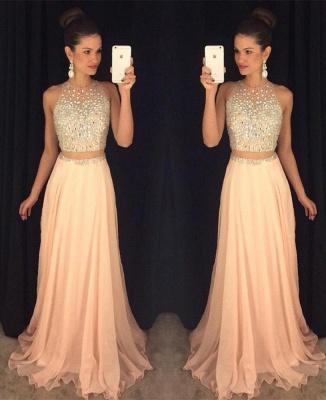 Luxury Beadings Sleeveless Prom Dress UK Long Chiffon Party Gowns AP0_2