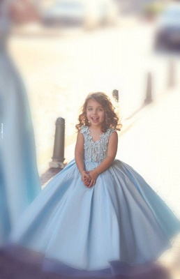 Newest Flowers Straps A-line Mother And Daughter Prom Dress UK Ball Gown BA4321_7