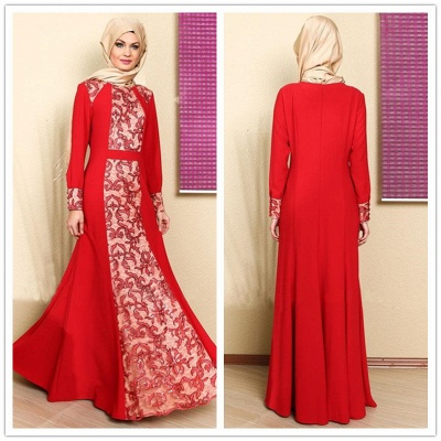 Sexy Long Sleeve Red Prom Dress UK With Appliques_3