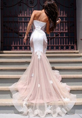 Sweetheart Lace Evening Dress UK with Mermaid Tulle Luxury_5