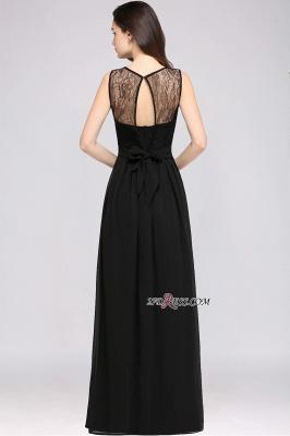 Jewel Black Keyhole Elegant Sheath Lace Floor-length Chiffon Evening Gown_2