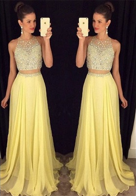 Luxury Beadings Sleeveless Prom Dress UK Long Chiffon Party Gowns AP0_1