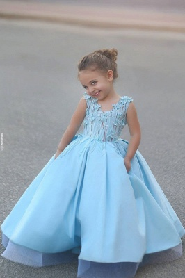 Newest Flowers Straps A-line Mother And Daughter Prom Dress UK Ball Gown BA4321_8