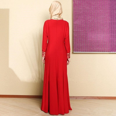 Sexy Long Sleeve Red Prom Dress UK With Appliques_2