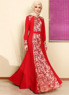 Sexy Long Sleeve Red Prom Dress UK With Appliques_4