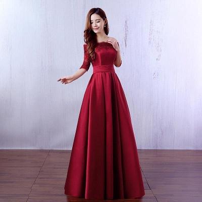 Gorgeous Burgundy Half-Sleeve Evening Dress UK Lace Long CPS388_6