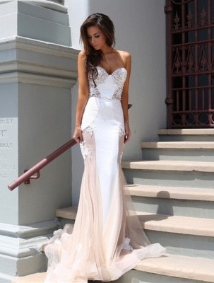 Sweetheart Lace Evening Dress UK with Mermaid Tulle Luxury_1