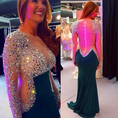 Timeless Long Sleeve Mermaid Evening Dress UKes UK Crystals Zipper Back BO4384_3