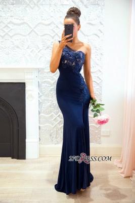 One shoulder lace prom Dress UK, long evening Dress UK BA9092_2