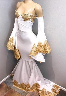 Long sleeve prom Dress UK with gold appliques, mermaid evening Dress UK BA8276_1