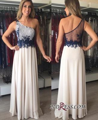 Applique Floor-Length Sexy One-Shoulder Chiffon Sleeveless Prom Dress UKes UK_1